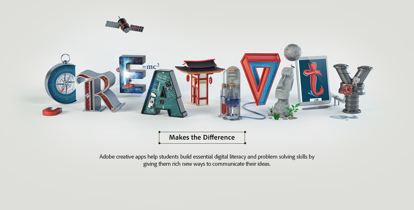 Creativity makes the difference in digital literacy, problem solving and creative communication.